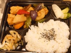 鶏と野菜の甘酢あんかけ弁当