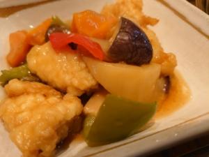 鶏と野菜の甘酢あんかけ